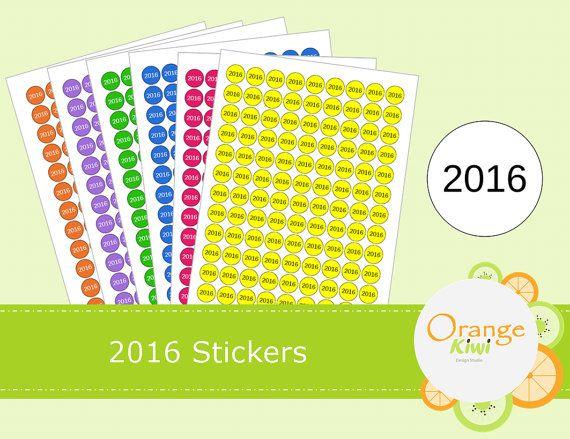2016 Stickers  2016 Inventory Stickers  2016 by OrangeKiwiDesign