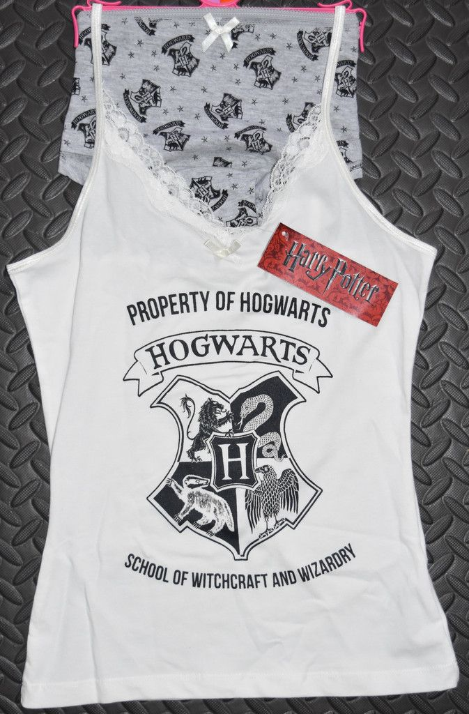 PRIMARK Hogwarts Vest & Knickers Harry Potter Set PJ PYJAMAS UK Sizes 6 - 20 NEW £16.99