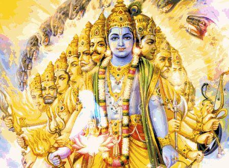 Vishnu ViswaroopamVisnu's Cosmic Form.