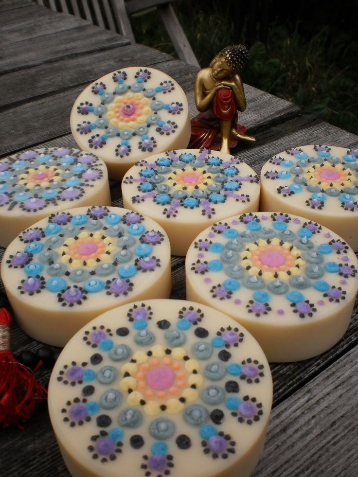 beautiful cold-process round soap