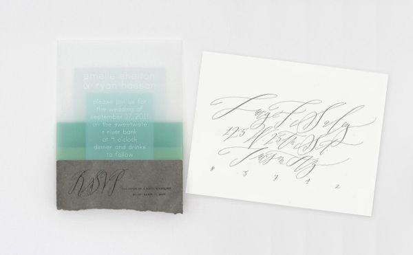 River-inspired invitations