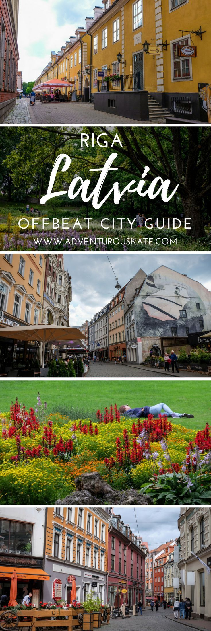 A travel guide to the most underrated city in Europe: Riga, Latvia. Explore this city during the summer among its Art Nouveau style buildings, go shopping for amber jewelry, or experience the thriving nightlife in this old town. Travel cheap in Europe as Riga features some of the most high-end restaurants for some of the lowest prices. Things to do in Riga. | Adventurous Kate: Solo Female Travel Blog #Riga #Latvia