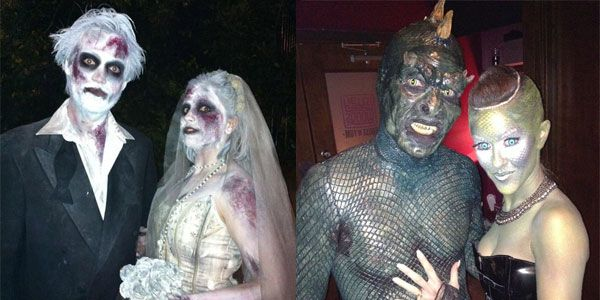 creative cool scary halloween costumes for couples