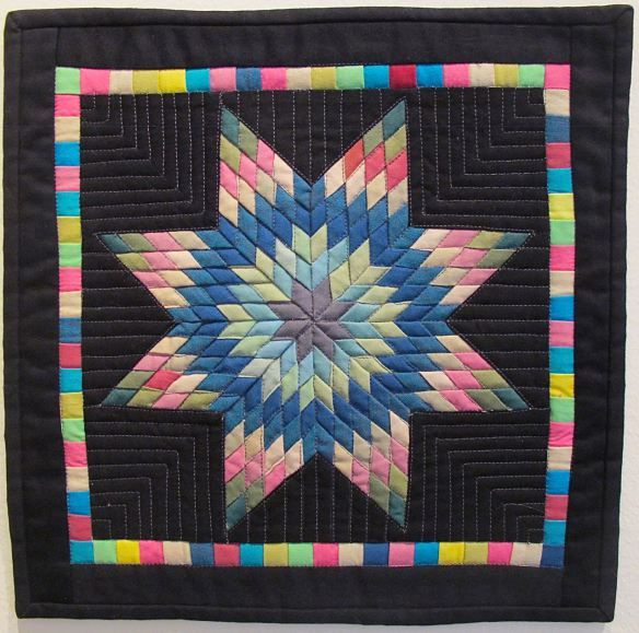 Mini Amish Quilt Challenge by Stacey Sharman.  Photo by The Plaid Portico.