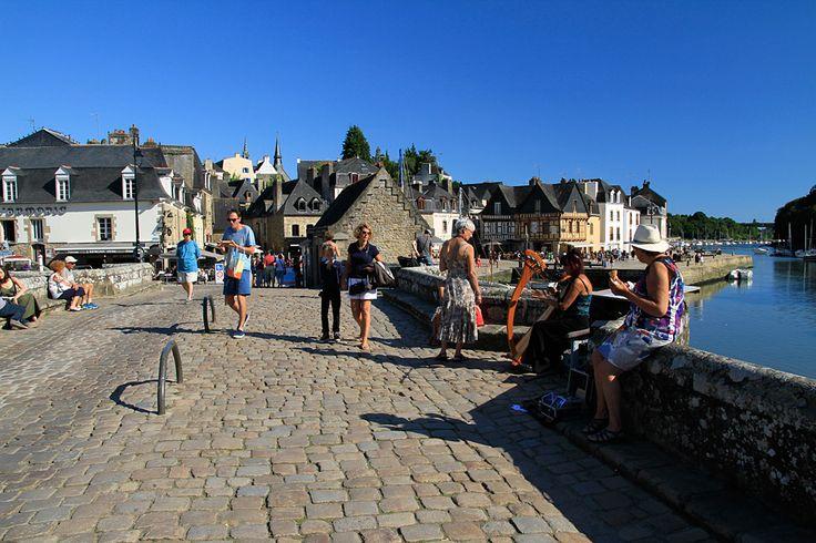 Le vieux pont de Saint-Goustan à Auray. Morbihan, Bretagne.