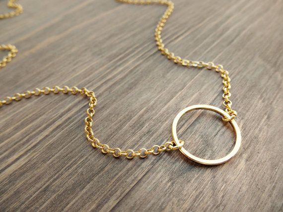 Gold karma necklace  dainty gold necklace  by SoCoolCharms on Etsy, €18.20