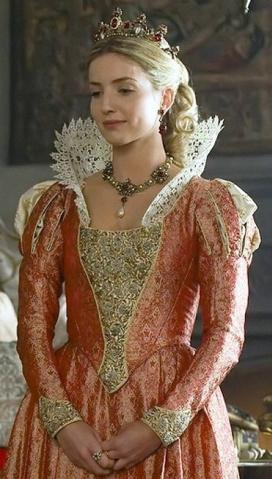 "Costume for Jane Seymour in ""The Tudors""."
