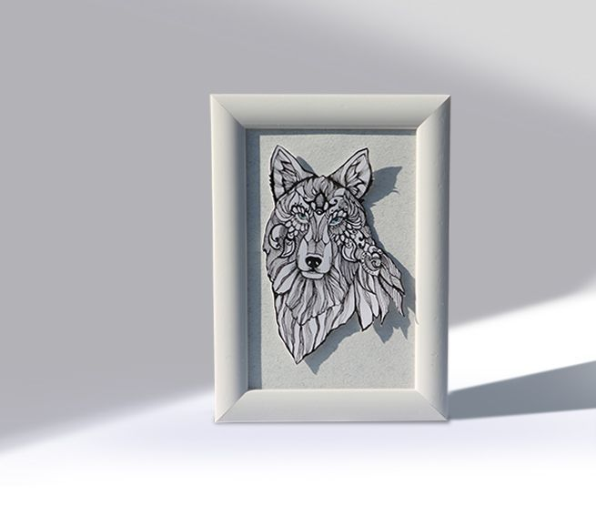 The White Wolf via Blue Pencil. Click on the image to see more!