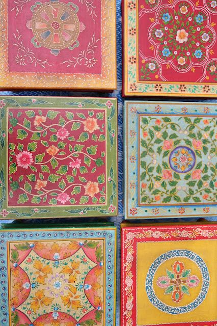 Lovely handcrafted tables from Rajasthan, India