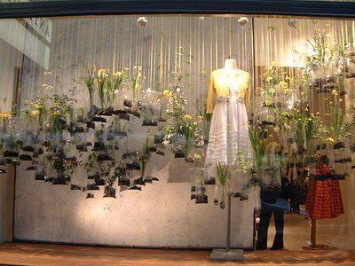 anthro-bag-flowersVisual Merchandis, Plastic Bags, Hanging Plants, Gardens Windows, Stores Windows, Windows Display, Retail Display, Anthropology Windows, Windows Design