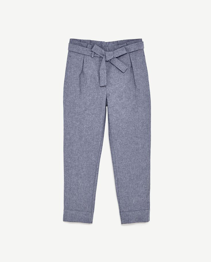 Image 8 of CHAMBRAY TROUSERS from Zara