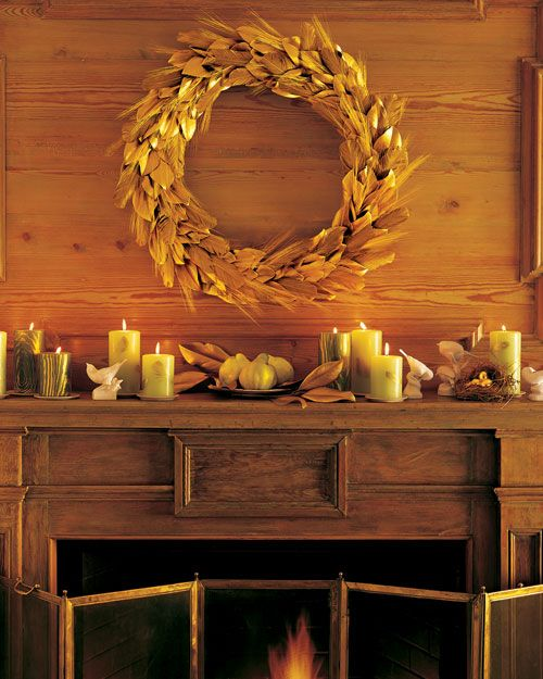 Golden Harvest Wreath