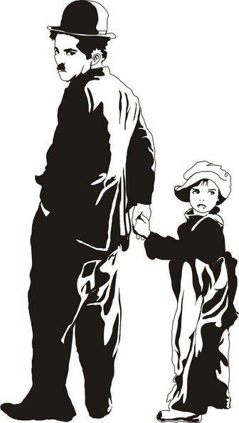 Resultado de imagen para caricaturas de chaplin