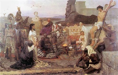 Saints Timothy and Maura - Henryk Siemiradzki