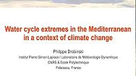 water cycle extremes in mediterranean in context of climate change