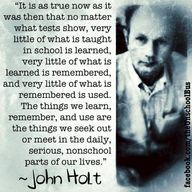 Wise words from John Holt