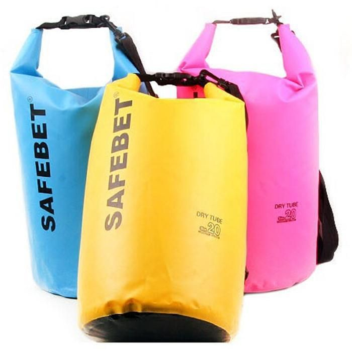 New Portable Outdoor • PVC Waterproof Diving Bag Travel Dry bags Rafting ₩ bag 5L ,10L ,20L Waterproof Double-Shoulder bagNew Portable Outdoor PVC Waterproof Diving Bag Travel Dry bags Rafting bag 5L ,10L ,20L Waterproof Double-Shoulder bag
