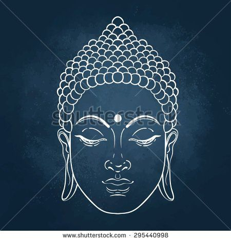 stock-vector-head-of-buddha-vector-illustration-over-the-blackboard-background-295440998.jpg (450×470)