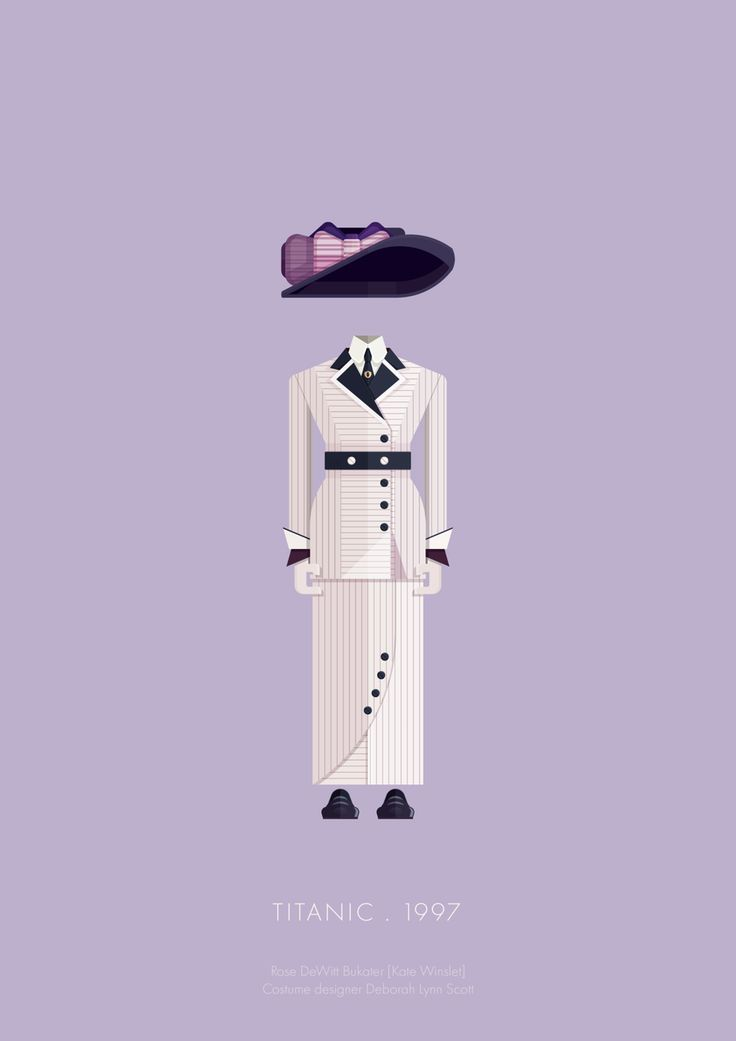 Illustrations of Famous Movie Characters Costumes – Fubiz Media