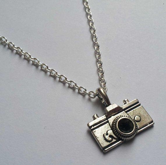 Camera ketting zilveren ketting fotograaf ketting door AzureAllure