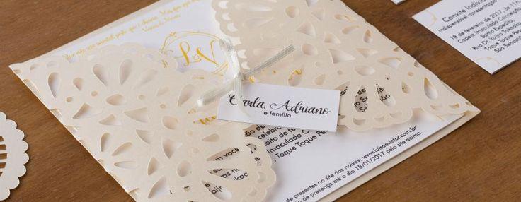 Lembranças e convites de casamento - Andorinha Estúdio Papelaria Criativa. Modelos de convites, preços, opiniões, disponibilidade, telefone e endereço. Escolha o convite do casamento que tem seu estilo!