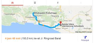 Rute Purbalingga - Bandara Adisutjipto