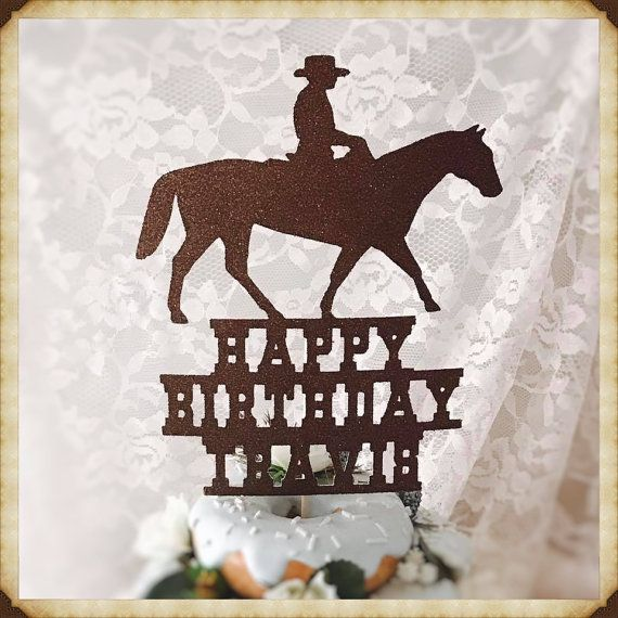 Cowboy Cake Topper  Cowboy Party by MemoryKeepsakeParty on Etsy