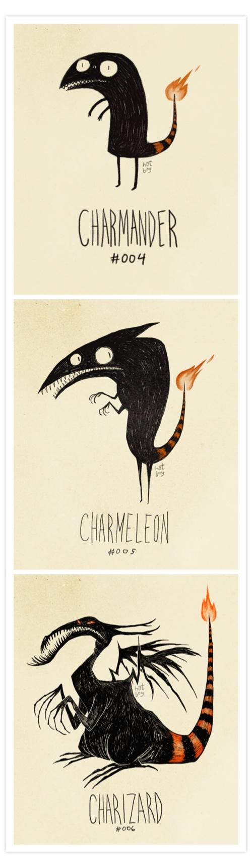 foto de Pokemon in the style of Tim Burton Charmander tattoo