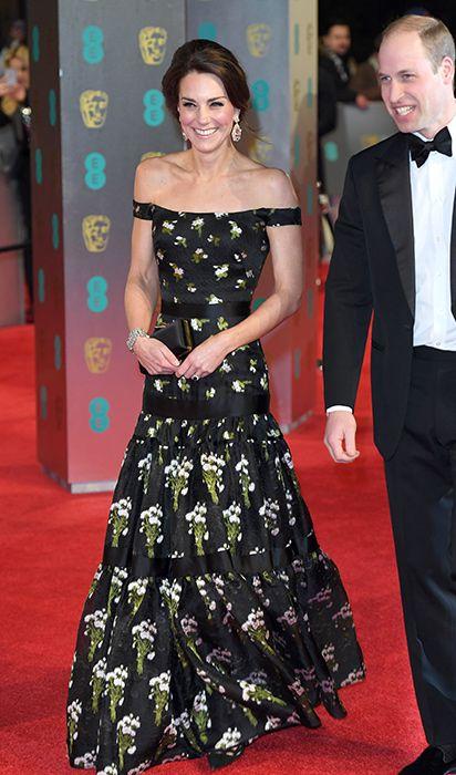 Kate Middleton Facing Bafta Dress Dilemma With Black Dress Code
