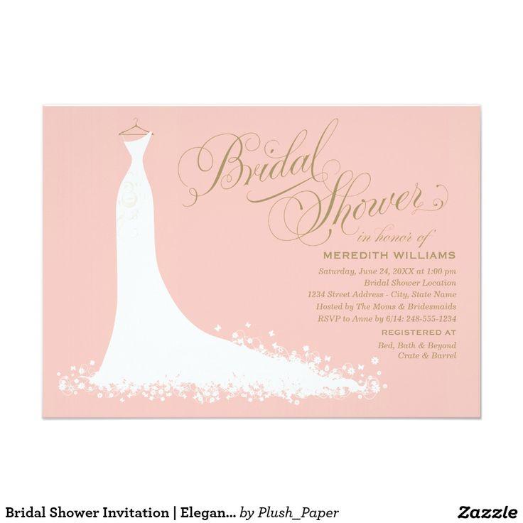 bed bath and beyond wedding invitation kits%0A Bridal Shower Invitation   Elegant Wedding Gown