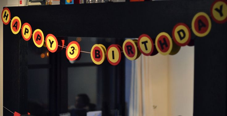 Fireman Birthday Party DIY Happy Birthday Banner