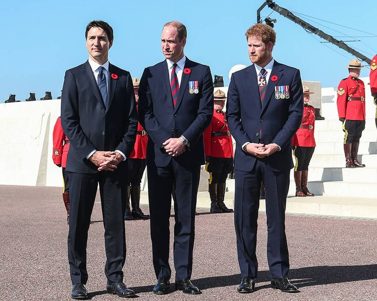 Prince William and Prince Harry Join Forces With Canadian Prime Minister Justin Trudeau to Honor Fallen Soldiers