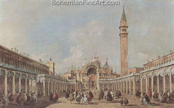 Francesco Guardi, The Feast of the Ascension in St Mark's Square Fine Art Reproduction Oil Painting