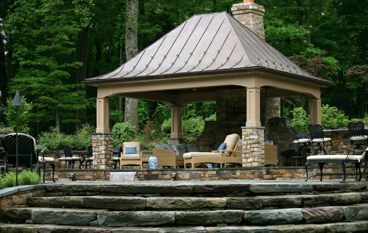 1000 Images About Backyard Pavilions On Pinterest Pool