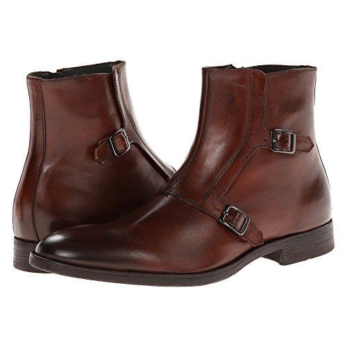 Handmade Men Brown boots, Men Double monk ankle boots, Men real leather boots - Dress/Formal