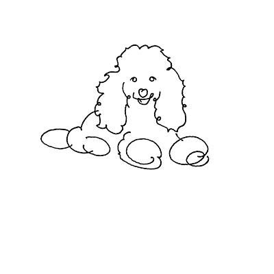 Poodle - Personalized Dog Line Drawing Framed Print  Available on THE POODLE PATCH through AMAZON http://amzn.to/2aaTWl7