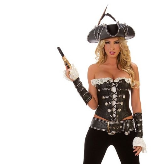 deluxe womens sexy rogue pirate with pants costume sexy pirate halloween costumes - Pirate Halloween Costumes Women