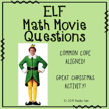 This is a 20 question worksheet that goes along with the movie Elf. Students do not need to watch the movie to complete the questions.This product includes:--A 20 questions worksheet that is easy to print front to back to save paper. The topics covered include converting fractions, decimals, and percents.--A complete answer key with answers in RED.