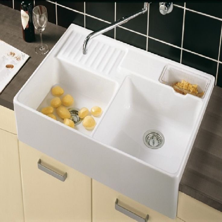 awesome Ceramic Double Kitchen Sink #8: Double Ceramic Kitchen Sink Plan Villeroy And Boch Butler 90 Double Bowl Ceramic  Kitchen Sink 2