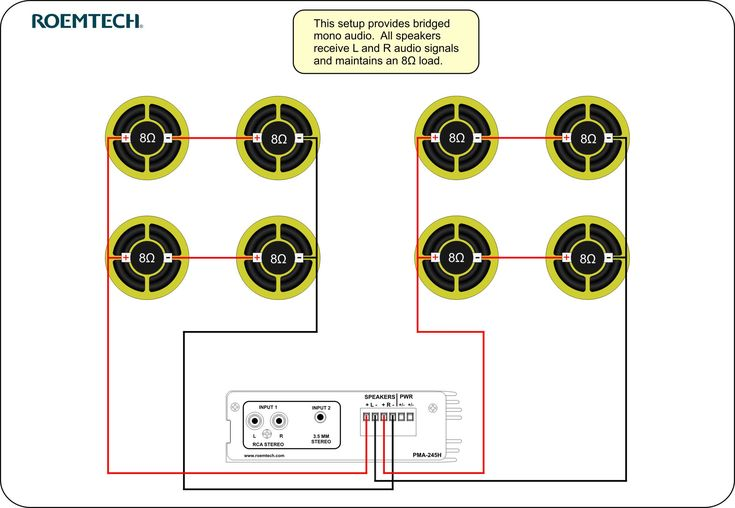 Classroom Audio    Systems     Multiple Speaker Wiring    Diagram    in 2019   Speaker wire  Stereo