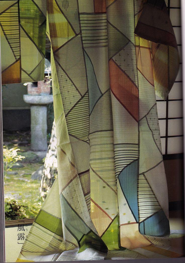 More beautiful bojagi from handmade fabrics.