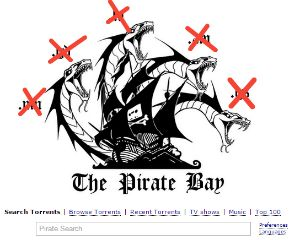 Registrar Shuts Down Pirate Bay Domain Names  Last May the Stockholm District Court ordered the Pirate Bays .SE domains to be handed over to the Swedish state a decision which is currently being appealed.  In a response The Pirate Bay decided to quickly redirect its visitors to a Hydra of six new domain names in case the .SE domains were lost for good.  The notorious torrent site decided to use more than one domain name anticipating that not all would survive pressure from copyright holders…
