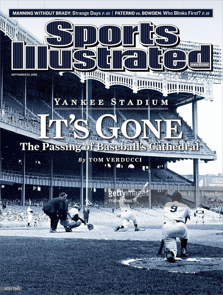 September 22, 2008 Sports Illustrated Cover: Baseball: New York Yankees Mickey…