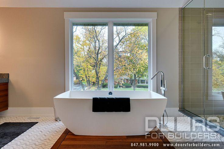 Custom Windows Project - Windsor Windows providing great view from Bath tub
