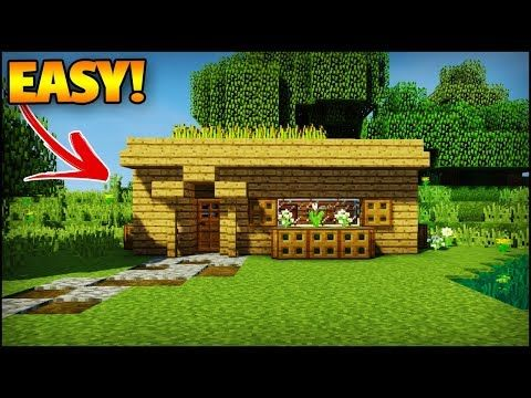 Minecraft How To Build A Small Survival Starter House Youtube Minecraft House Tutorials Minecraft Starter House Minecraft Houses Survival