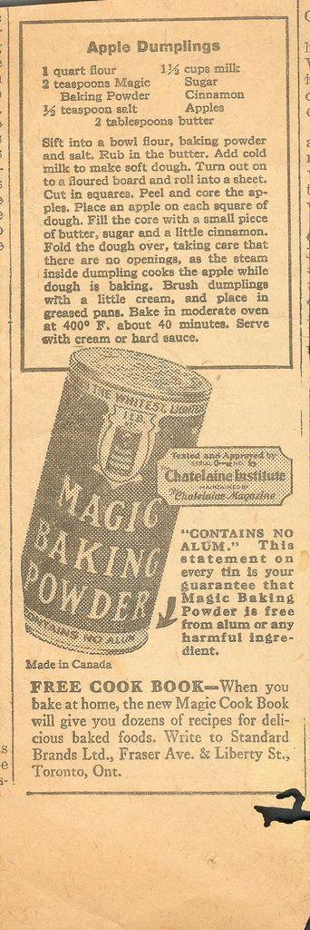 https://flic.kr/p/7xSXja | Magic Baking Powder Apple Dumplings - 1930'a