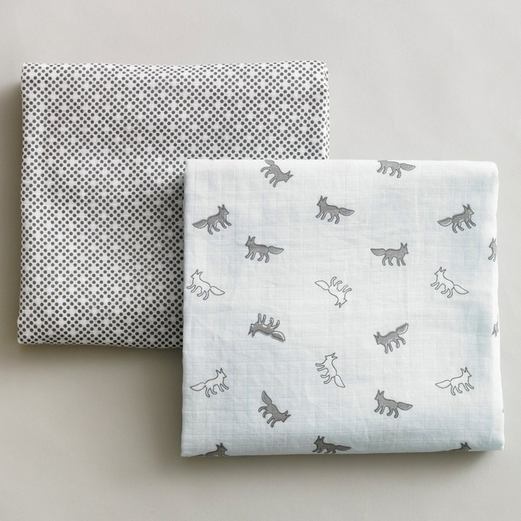 I love the foxes! maybe red and navy and grey with foxes