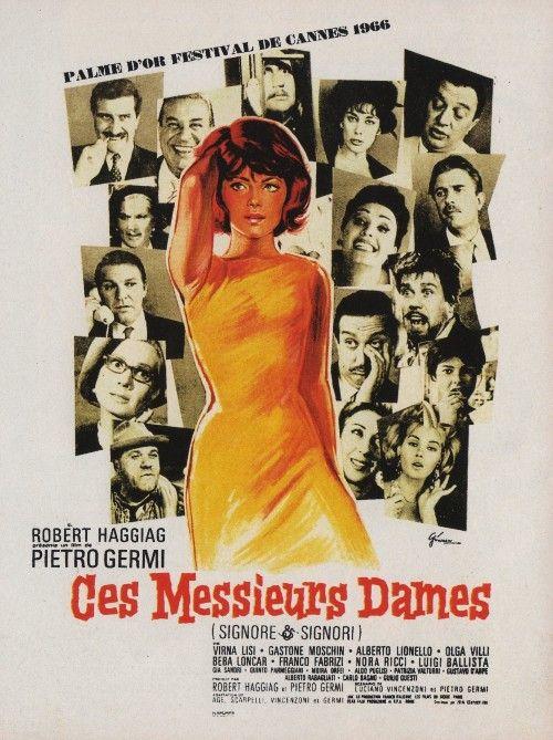 Ces messieurs dames (1966) Signore E Signori Film de Pietro Germi avec Virna Lisi, Gastone Moschin, Alberto Lionello