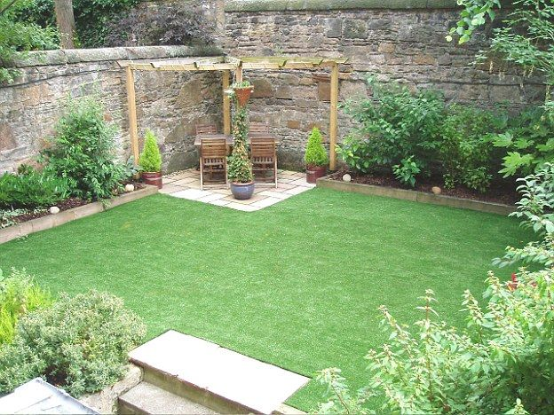 Growing numbers of homeowners are buying artificial lawns (like that pictured) for their back gardens