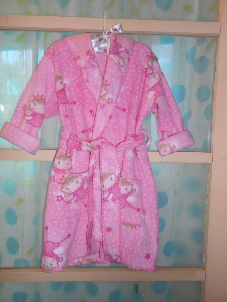A pretty pink fairy polar fleece dressing gown for my one of my granddaughters